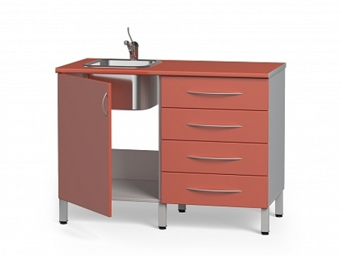 Комплект медицинской металлической мебели БТ-04+БТ-02/4-100 - фото