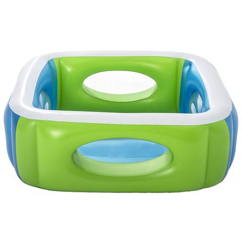 Детский надувной бассейн Bestway 51132 (168x168x56 см) с окошками / 18482