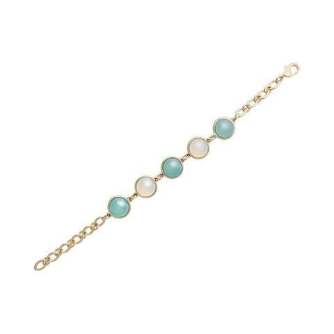 Классический браслет Pearl B.Agate-Opaline C1362.21.25 BL/BW/G