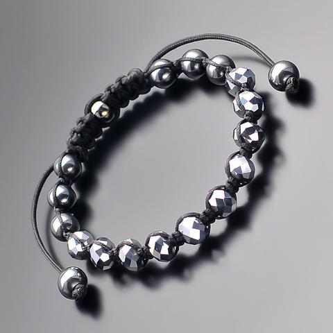 Мужской браслет из стекляруса и гематита Rico la Cara AMX005165