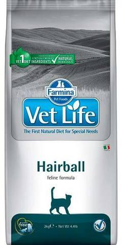 10 кг. FARMINA Vet Life Сухой корм для кошек против шерстяных комочков Hairball