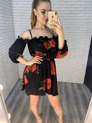 летнее платье с розами nadya