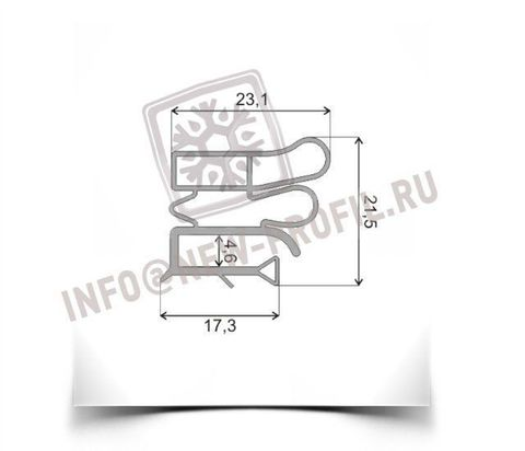Уплотнитель для холодильника Vestfrost BKF 404 м.к. 690*580 мм(012 АНАЛОГ)