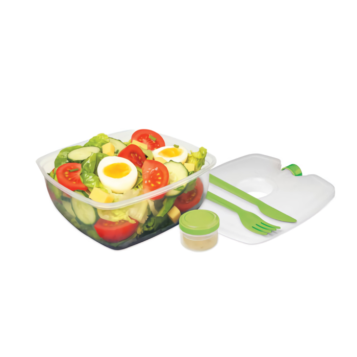 """Контейнер для салата с охлаждающим элементом Sistema """"TO GO"""" 1,63 л, цвет Зеленый"""