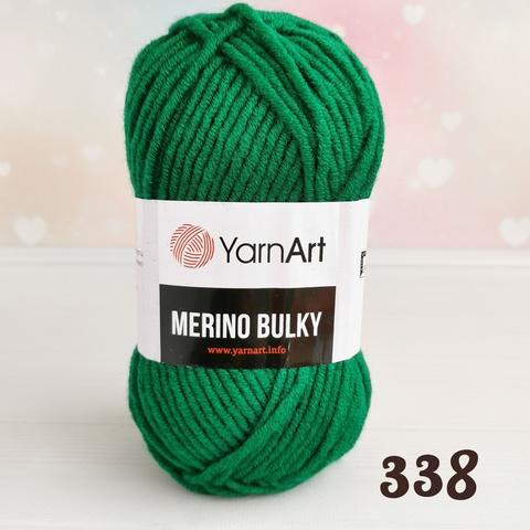 YARNART MERINO BULKY 338, Изумруд