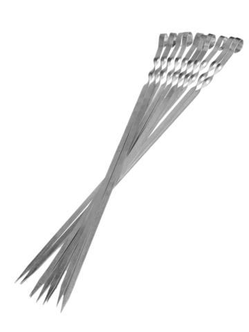 Шампур нерж сталь ручка 3*8мм, 45-50 длинной (мин. заказ от 5 штук), 2 сорт