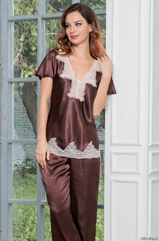 Женская шелковая пижама MARILIN (70% нат.шелк)