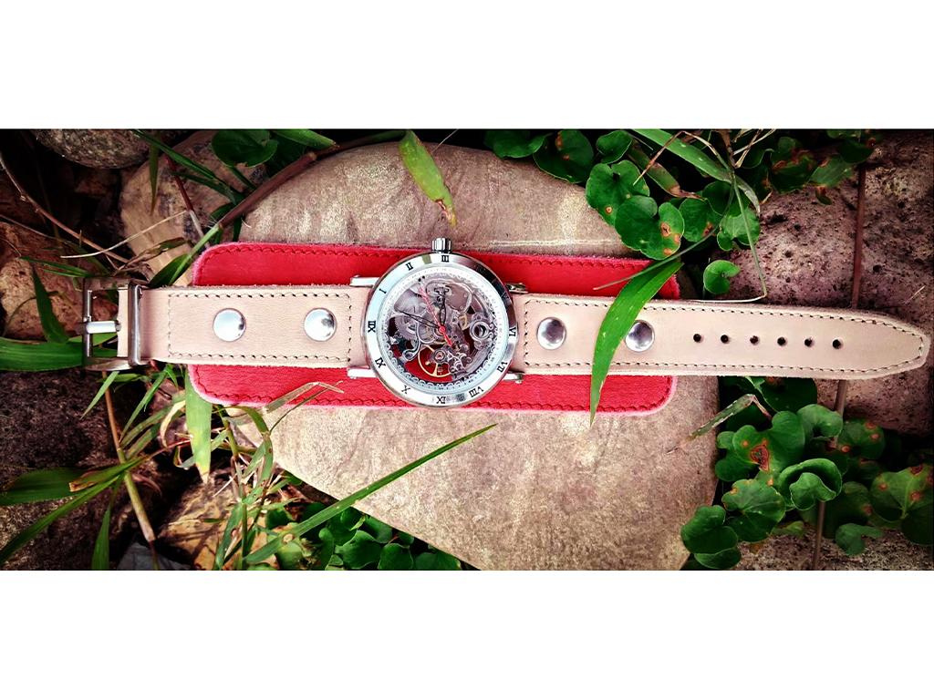 Часы скелетоны механические Cherry YOURTIME