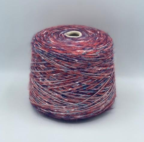 Бобинная пряжа (пр.Италия), 200м/100гр. 60%мохер 40%остальные волокна , цвет-Мультиколор, арт.8743