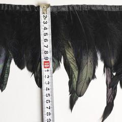 Купить оптом перья Петуха на ленте в интернет-магазине Black черные
