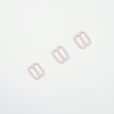 Регулятор для бретели серебристый пион 10 мм (цв. 168)