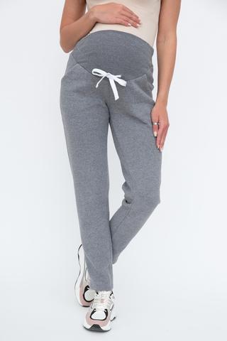 Утепленные спортивные брюки для беременных 13055 серый