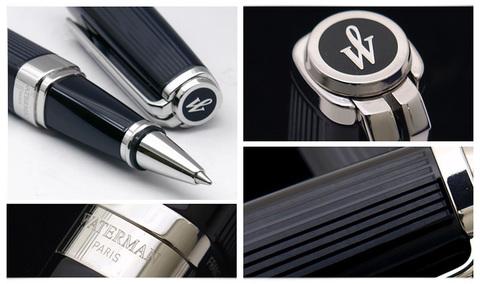 *Ручка-роллер Waterman Exception, цвет: Night&Day Black ST, стержень: Fblk123