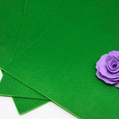Фоамиран бархатный. Цвет: Зеленый 007