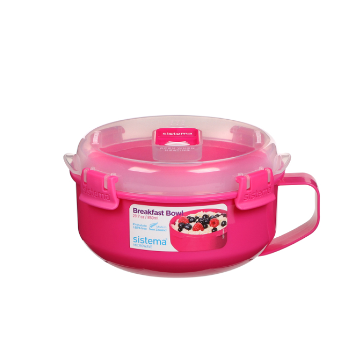 """Чаша для приготовления завтрака в СВЧ Sistema """"Microwave"""" 850 мл, цвет Розовый"""
