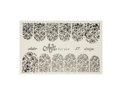 Фольга для дизайна ногтей цвет серебро 57 купить за 120руб