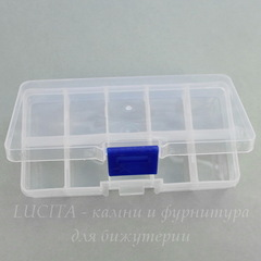 Пластиковый контейнер для хранения мелочей, прямоугольный 127х64х22 мм