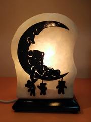 Солевая лампа Мишка на луне 1,5-2,5кг