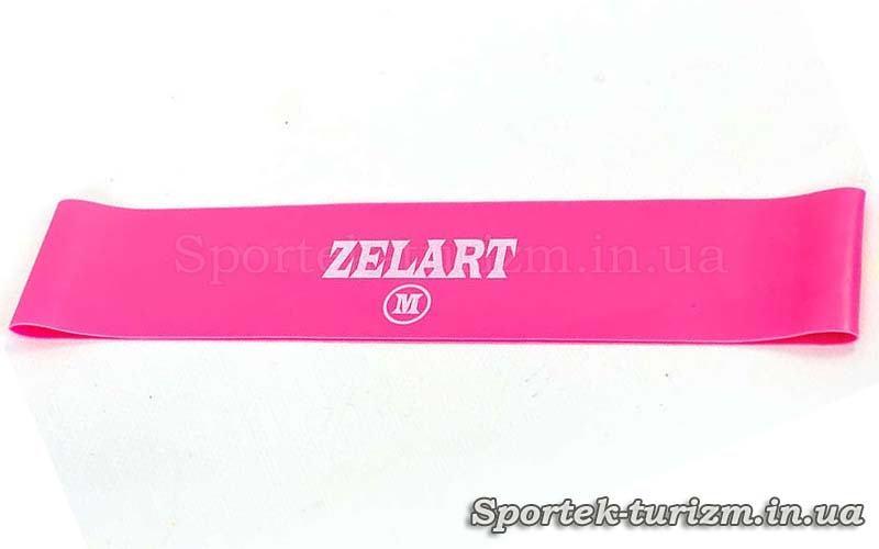 Гумка для фітнесу ZELART BANDS рожева (жорсткість M, 500x50x0.7 мм)