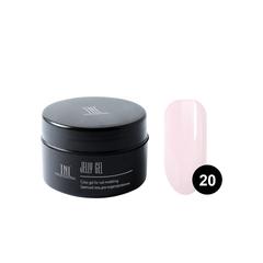 TNL, Гель-желе камуфлирующий нежно-розовый №20, 18 мл