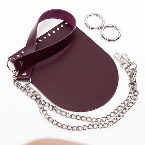 """Комплект для сумочки Орео """"Вино"""". Ручка с цепочкой"""