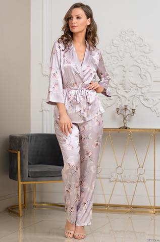 Шелковая пижама-тройка
