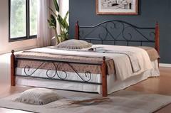 Кровать АТ-815 200x160 (Queen) Черный/Красный дуб