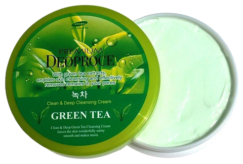 DEOPROCE PREMIUM Крем массажный  PREMIUM DEOPROCE CLEAN & MOISTURE GREEN TEA MASSAGE CREAM 300g  300гр