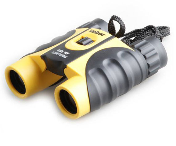 Водонепроницаемый бинокль Veber 10 25 WP, черно-желтый