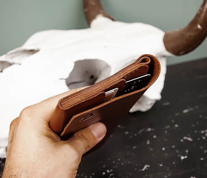 WB185-2 Тонкий клатч из коричневой натуральной кожи фото 12