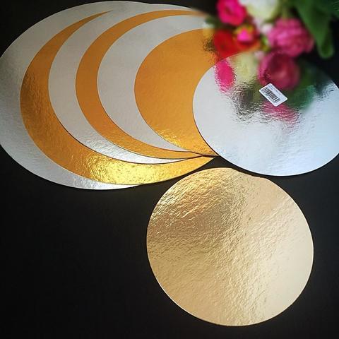 Подложки для торта ТОНКИЕ Золото\Серебро h-0,8мм