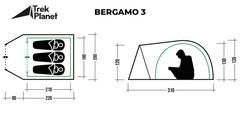 Палатка Trek Planet Bergamo 3 - 2