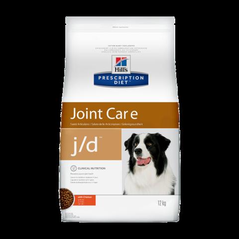 Hill's Prescription Diet j/d Joint Care Сухой диетический корм для собак для поддержания здоровья и подвижности суставов с курицей