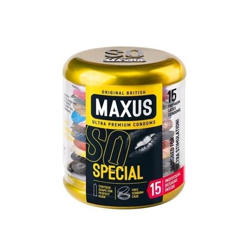 MAXUS Special №15 Презервативы в железном кейсе точечно-ребристые