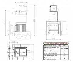 Топочный агрегат для бани Сударушка Семейная (Стальная окрашенная дверка со стеклом)