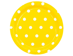 Тарелка Горошек желтая