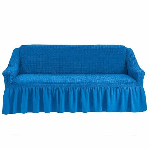 Чехол на четырехместный диван, лазурный