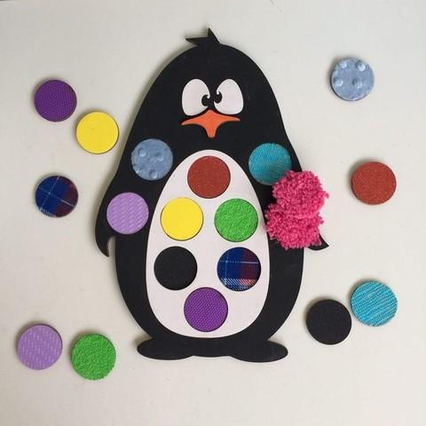 Тактильные дощечки Пингвин, 10 пар, ручная работа