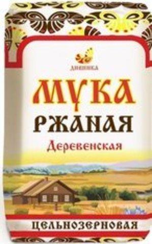 Мука Дивинка Ржаная Деревенская Цельнозерновая б/п 1000 г