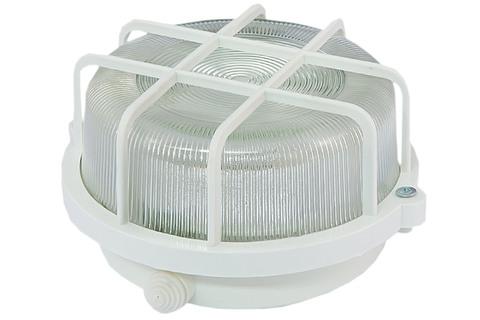 Светильник НПП 03-100-005.04 У3 (корпус и защитная  сетка-квадрат,  белый) TDM