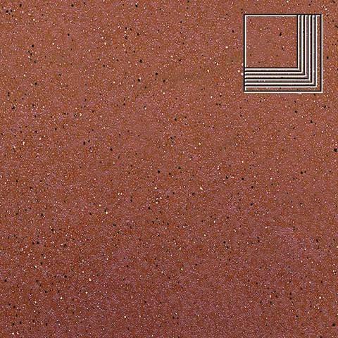 Ceramika Paradyz - Taurus Rosa, 300x300x11, артикул 5276 - Ступень угловая структурная
