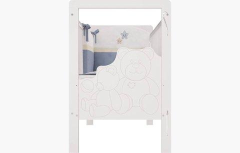 Кроватка детская Polini kids Плюшевые Мишки 222, белый