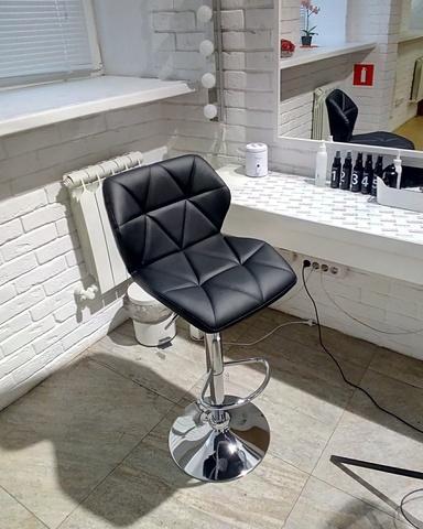 Сиденье для барного стула Диамонд/Diamond, экокожа, черное (сидение)