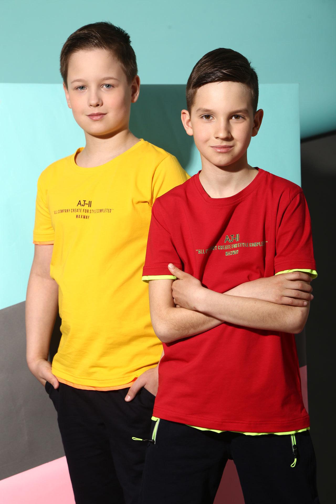 Футболка для мальчика AJ-11 Bold Турция, 7533 (140-176)