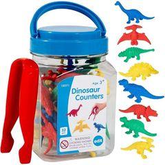 Счетный материал фигурки Динозавры (контейнер), Edx education 13037J