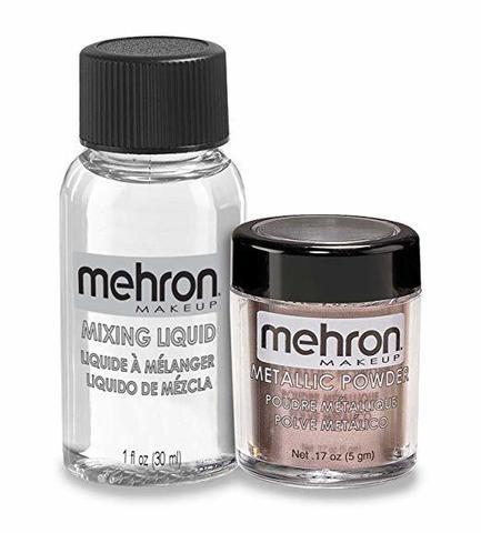 MEHRON Металлическая пудра-порошок Metallic Powder (5 г) с жидкостью для смешивания Mixing Liquid (30 г), Lavender (Лавандовый)