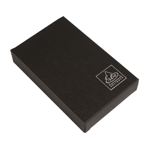 Маникюрный набор Erbe, 7 предметов, кожаный футляр, цвет черный