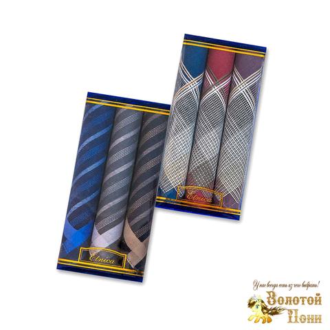 Набор мужских носовых платков 3 ШТ (42х42) 191203-PL1017
