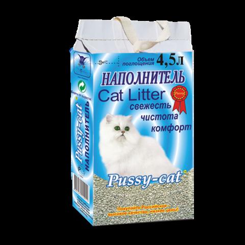 Pussy-Cat Наполнитель для туалета кошек впитывающий (голубой)