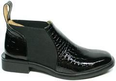 Черные полуботинки женские демисезон  Ari Andano 721-2 Black Snake.